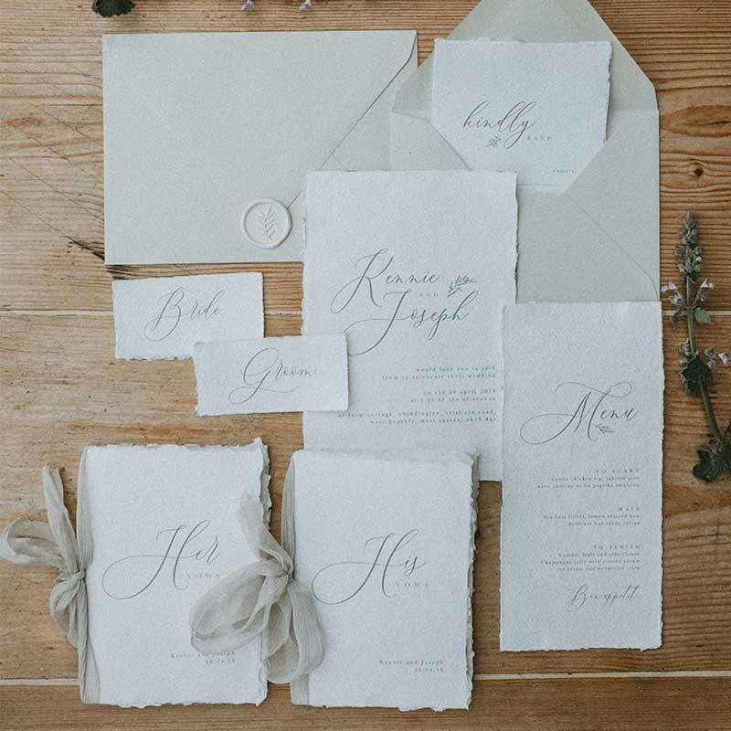 beautiful bespoke wedding stationery