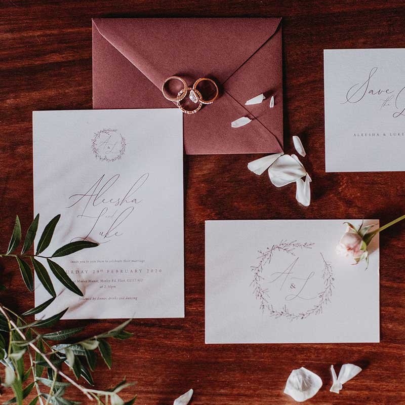 classic bespoke wedding stationery