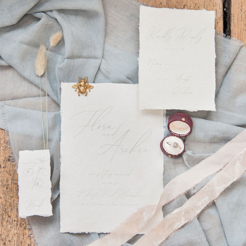 elegant wedding invite - bespoke wedding stationery
