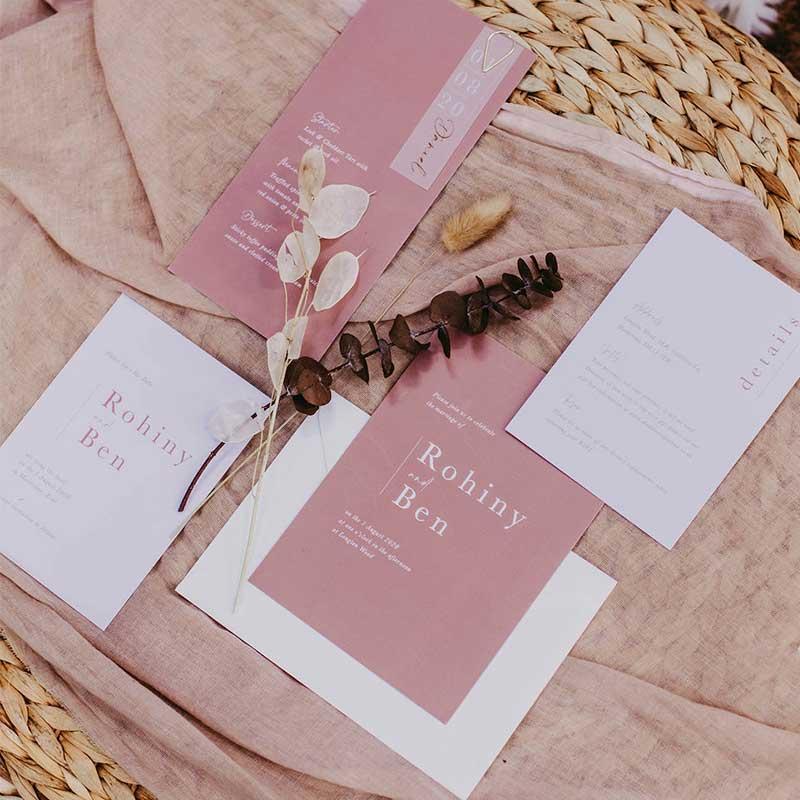 bella wedding stationery